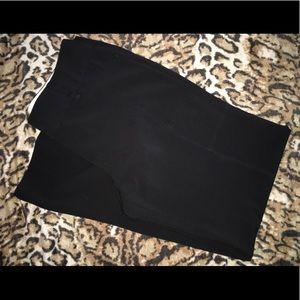 Sharagano Black Dress Slacks Fuller Leg Style